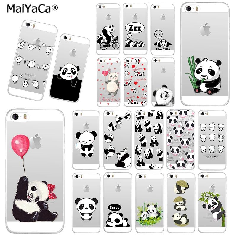 Maiyaca bambu verde e animal impertinente panda nova moda caso de telefone para o iphone 11 pro 8 7 66 s plus x 10 5S se xr xs max