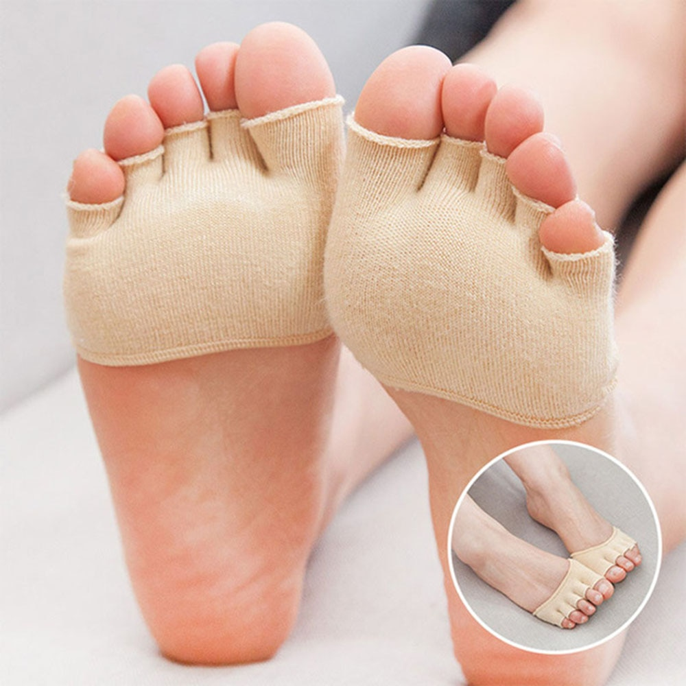 1Pair Five Toe Socks Orthotics Separators For Toes Bunion Corrector Orthopedic Hallux Valgus Posture