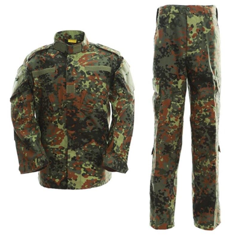 Táctico ACU ejército uniforme al aire libre Airsoft CS juego caza camuflaje chaqueta + Pantalones ropa militar senderismo hombres Camo Wear trajes