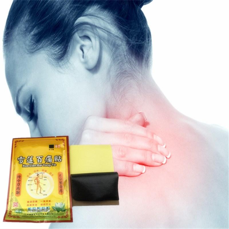 8 unids/bolsa salvaje Saussurea de aceite esencial lejos-infrarrojo anti-analgésico inflamatorio pasta parche dolor liberación masaje relajante de yeso