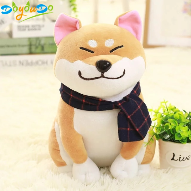 Shiba Inu Dog Doll Toy Japanese Doge Dog Toy Soft Plush Cute Cosplay Gift Toy 25CM