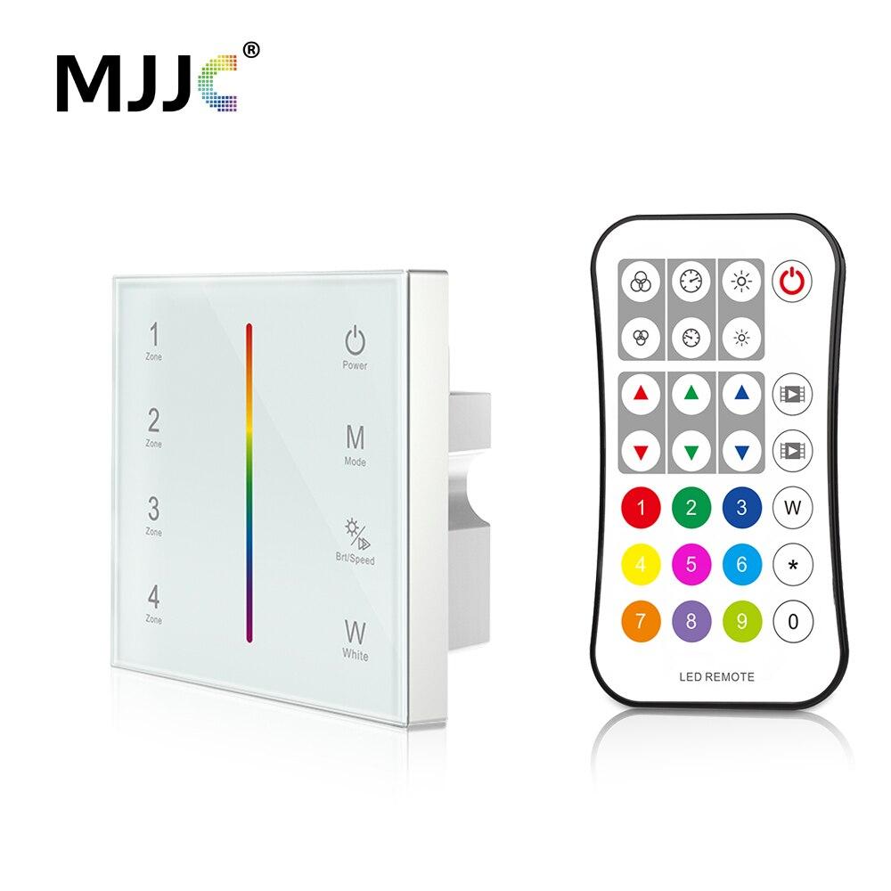 MJJC Zona de Controlador DMX 512 CANAIS de Controle Sem Fio 2.4G RF RGBW DMX512 Mestre Remoto Montado Na Parede Controlador Do Painel de Toque T14-1