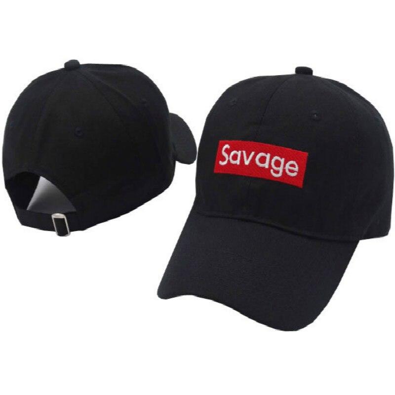 embroidery savage dad hat cotton adjustable fashion baseball cap hip hop women snapback hat summer streetwear female cap bone
