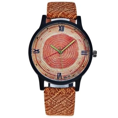 New Wood Women Watches Retro 2016 Casual FEIFAN Brand Vintage Leather Quartz Clock Fashion Ladies Wrist Watches Wooden Watch