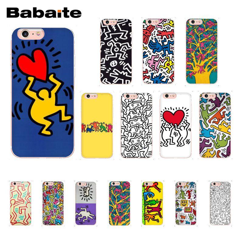 Чехол для телефона Babaite Keith Haring art Для iphone 11 Pro 11Pro Max X XS MAX 6 6s 7 7plus 8 8Plus 5 5S SE XR