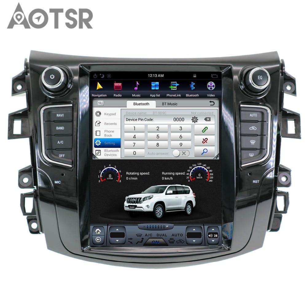 Aotsr Android 7.1 styl Tesla samochód bez odtwarzacza DVD radiowa nawigacja GPS dla NISSAN NP300 Navara 2014 + radioodtwarzacz samochodowy multimedia