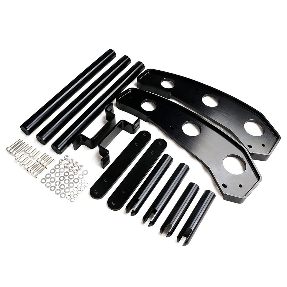 Racing Car modification Front Bumper For 2015-2017 Ford Mustang Black color TT101372