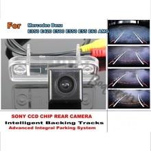 Caméra de vision arrière intelligente Benz E350 E420 E500 E550 E55 E63 AMG   Piste intelligente HD CCD, dynamique, pour Mercedes