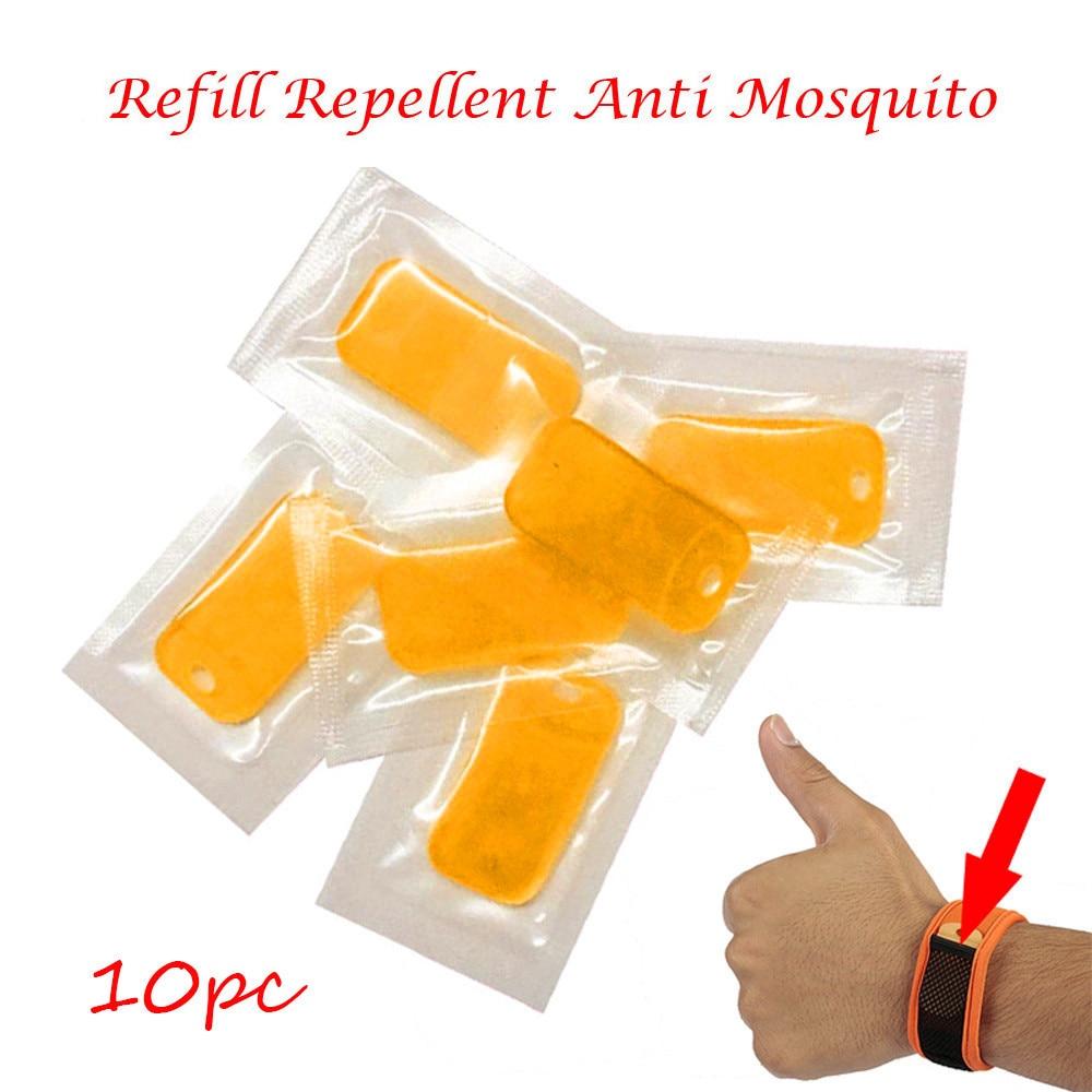 10 unidades repelente Anti Mosquito para pulsera repelente de mosquitos hoja repelente Control de Plagas puntos de Control pesca