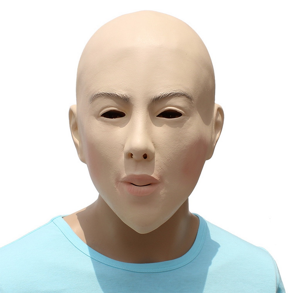Disfraz de Halloween femenino realista, accesorios de Cosplay, máscara de fiesta de disfraces de látex, máscaras de travesti sexis de belleza con cabeza calva