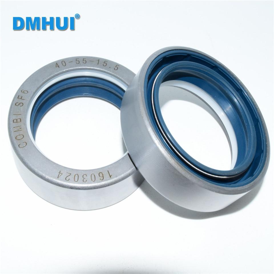 COMBI SF6 Тип 40*55*15,5 или 40X55X15.5 NBR + PU OEM 12018848B используется для оси привода трактора ISO 9001: 2008 бренд DMHUI