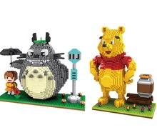 Mrico Qute ZMS Anime cartoon kawaii Totoro bear kids boys girls gift building blocks action figure model educational toy 3455