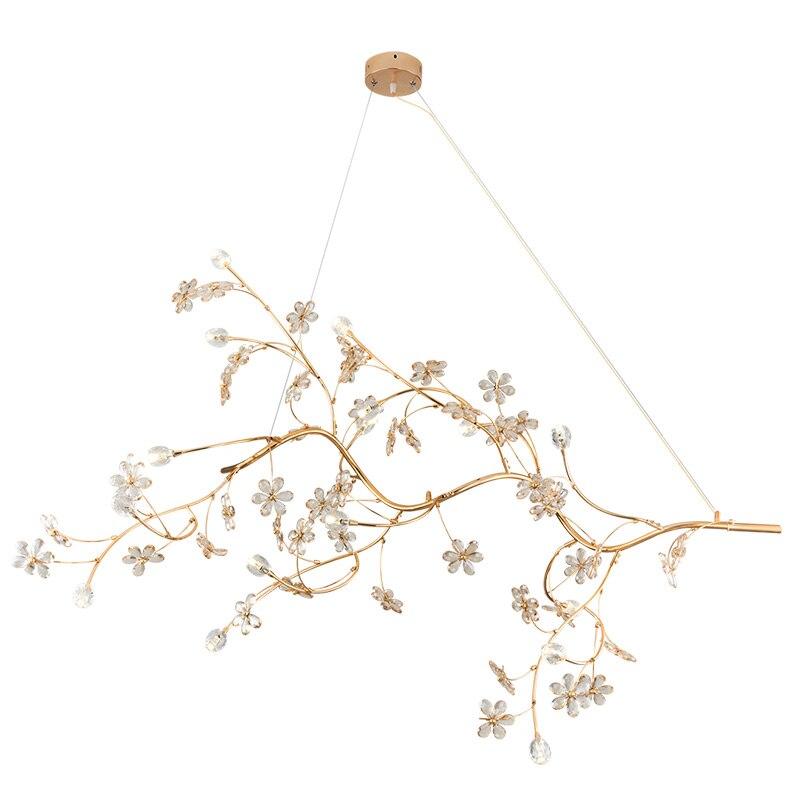 Pós-moderno restaurante lustre Nordic personalidade criativa salão de banquetes do hotel decorado ramos flor de cristal sala de estar