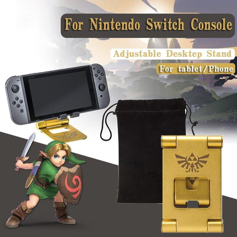 Suporte de Mesa Suporte para Nintendo Console Switch NS Zeldas Acessórios Titular Suporte Ajustável Portátil Compacto Playstand