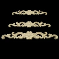 european style home decorates dongyang wood carving white embryo long applique door bed decorative flower piece kawaii