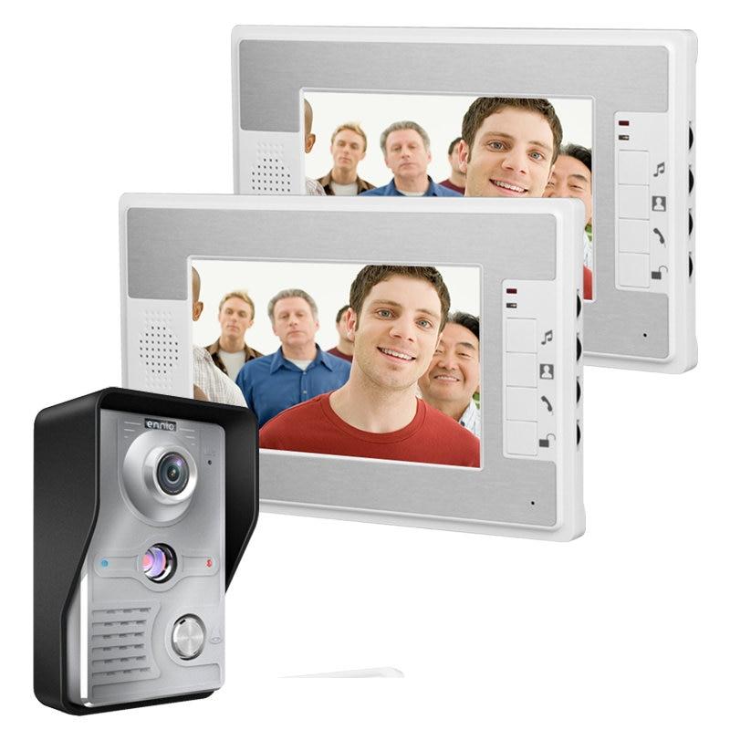 Frete Grátis! 2016 novos produtos 7 Polegada de Vídeo Porta Telefone Campainha Intercom Kit 1-2-monitor da câmera de Visão Noturna