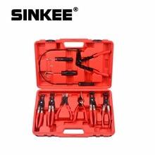 9Pcs Schlauch Klemme Ring Zange Clip Set Flexible Kabel Zange Swivel Kiefer Werkzeug Remover Auto Hand Tool Set SK1002