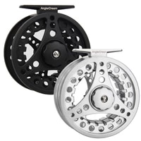12 34 56 78 wt fly fishing reel large arbor blacksliver right and left handled aluminum fly reel 21 ball bearing