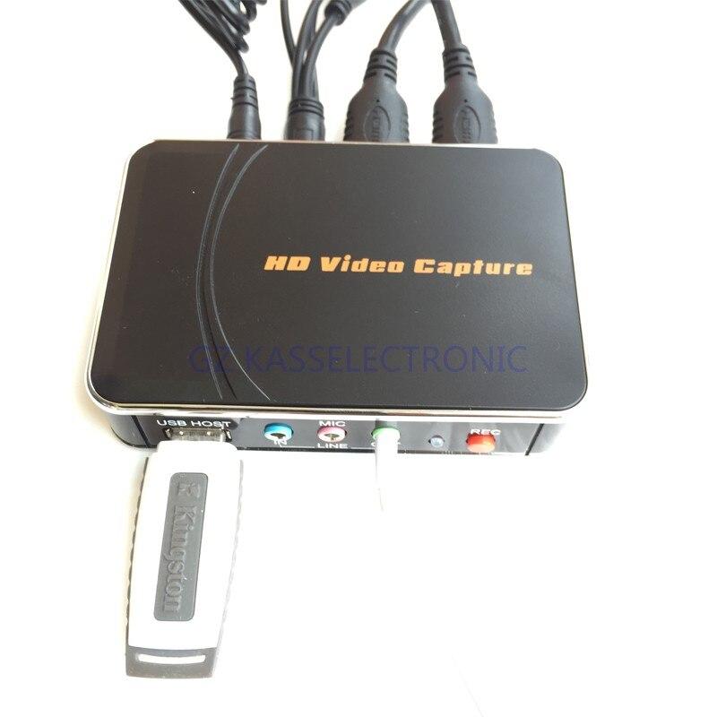 2017 Nuevo juego captura hdmi 1080 p YpBpr grabadora para Wiiu Xbox 360 PS3 PS4 a U disco Flash envío gratis