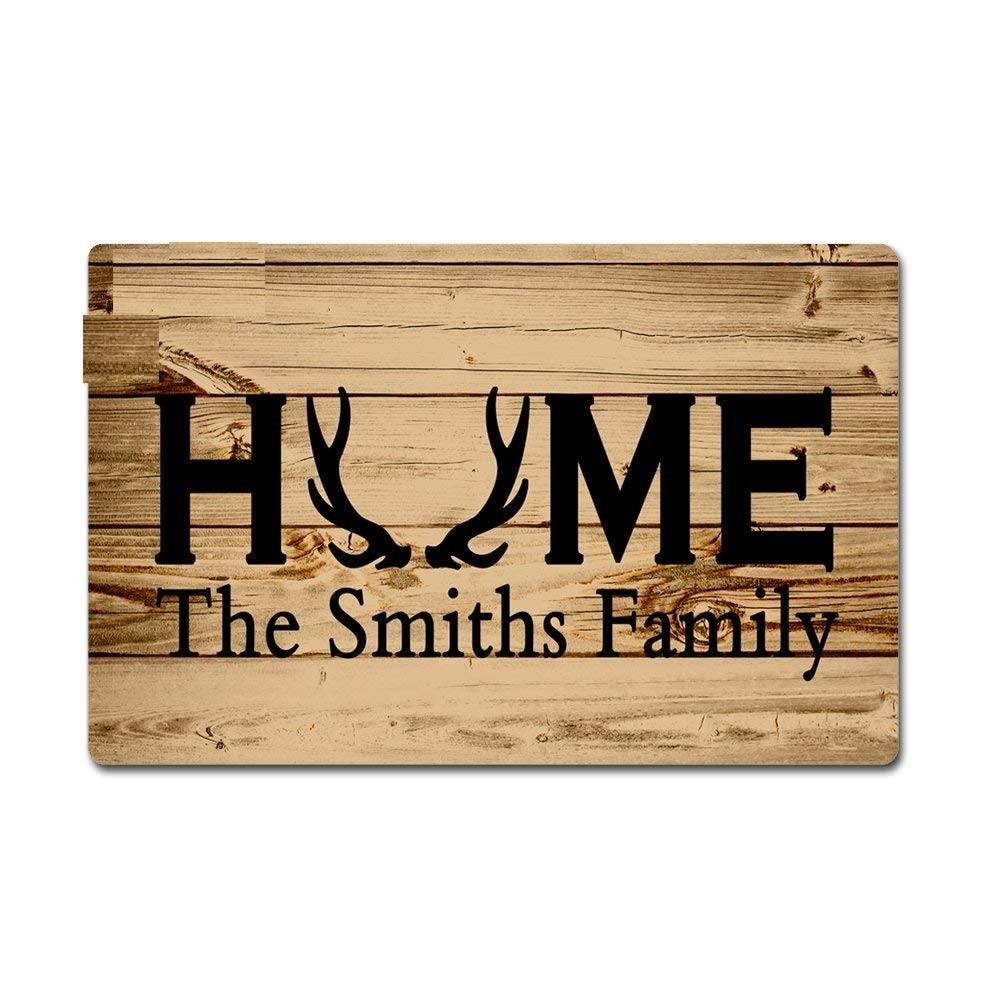 Nome de Família Ao Ar Livre tapete de Porta com Monograma personalizado Casa Capacho Chão Máquina Lavável Tapetes Antiderrapante para corredor