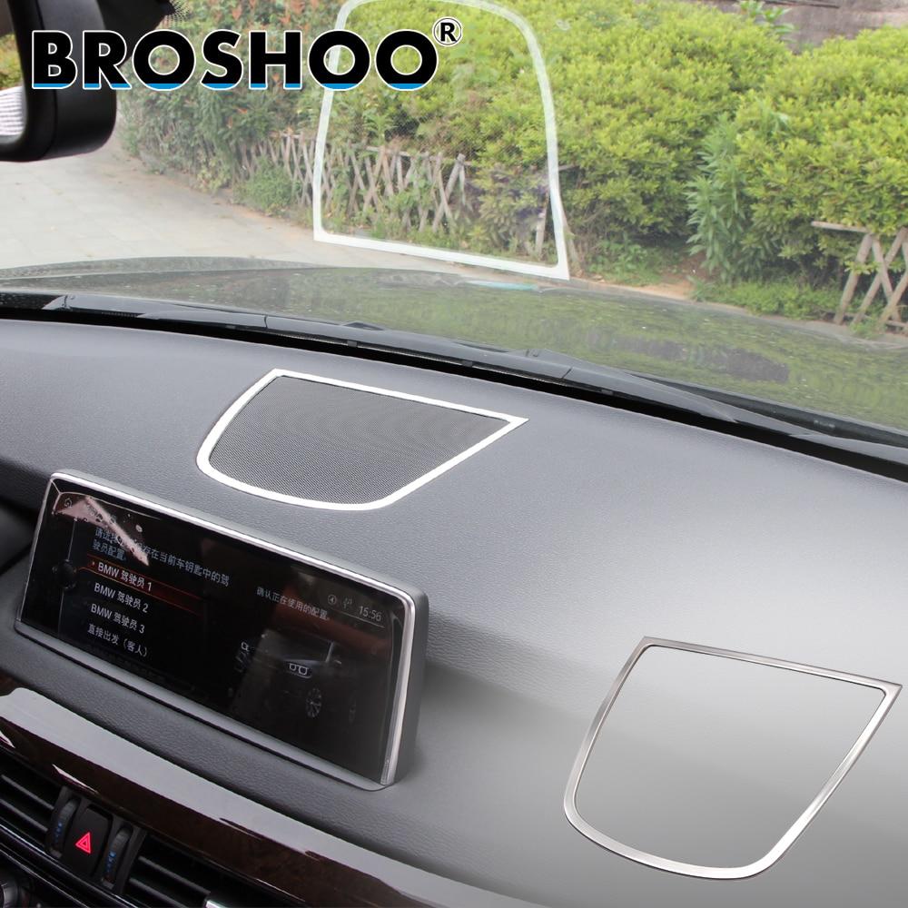 BROSHOO Car Console Speaker Sticker 3D Decals For Bmw X5 F15 X6 F16 2014 2015 2016 2017 Auto Car Styling Interior Accessories