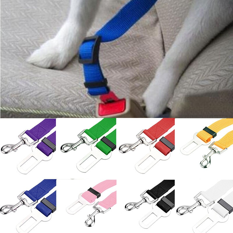 2020 nouveau chaud 1PC véhicule voiture ceinture de sécurité ceinture de sécurité plomb pince pour animaux de compagnie chat chien sécurité voiture style accessoires livraison gratuite et vente en gros 119