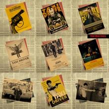 Vintage papier rétro anime affiche-chauffeur de Taxi affiche Robert Deniro-affiches cudi affiche/Vintage maison autocollant mural décor 30*21CM