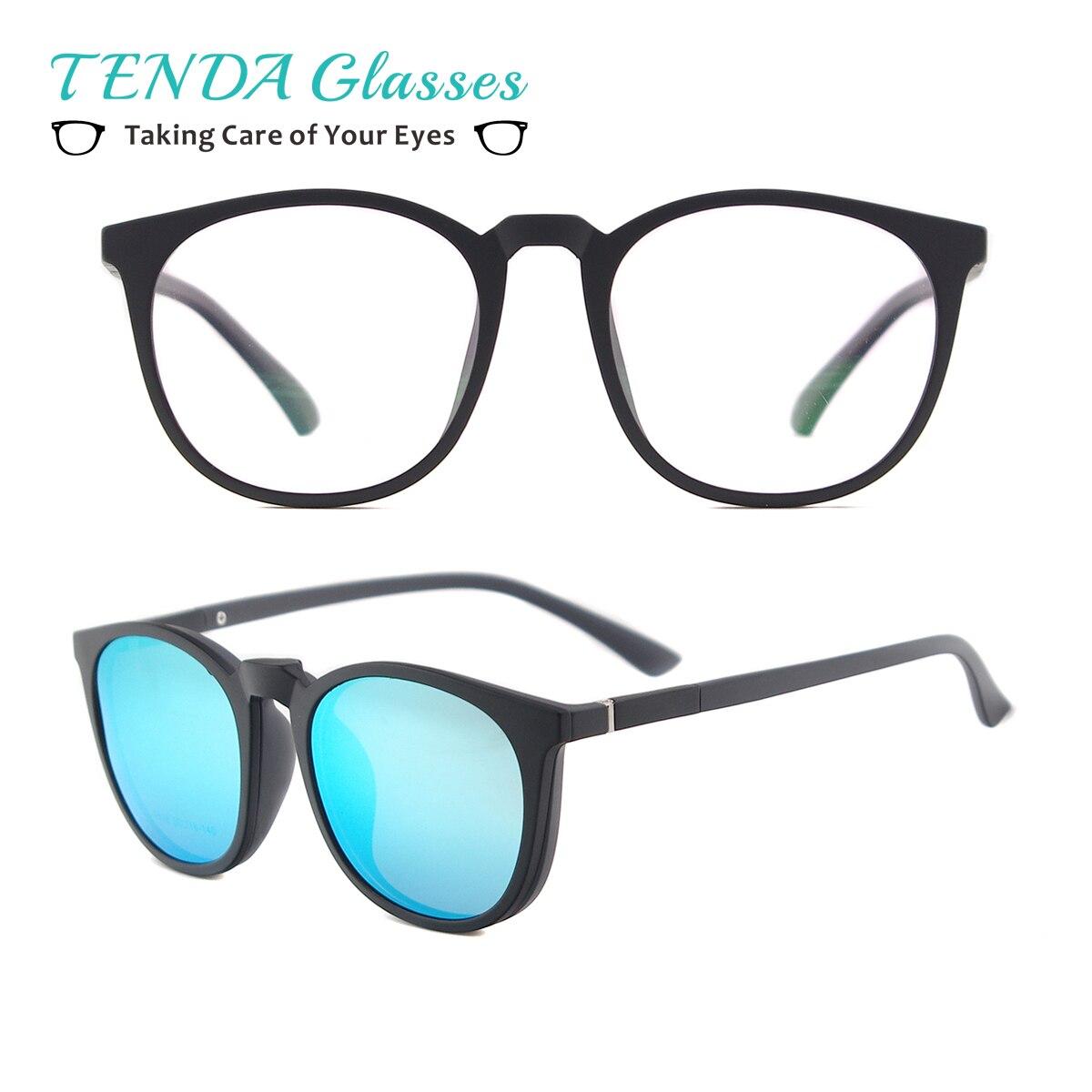 Gafas de Sol clásicas polarizadas redondas para hombre Gafas de Sol ligeras flexibles Gafas magnéticas Clip en Gafas de Sol
