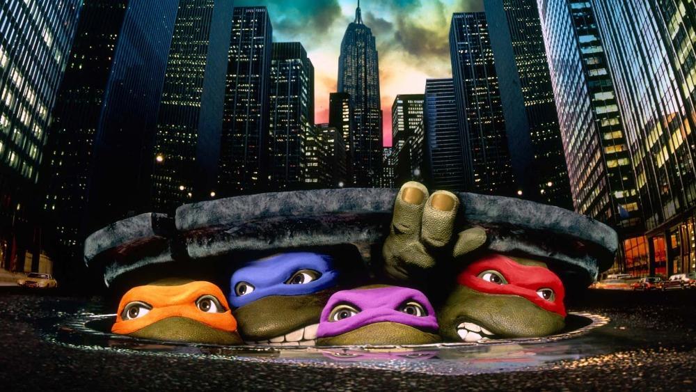 Ninja Turtle Sewer Lid Cityscape super city skyline Street backdrop Vinyl cloth Computer printed wall backdrop