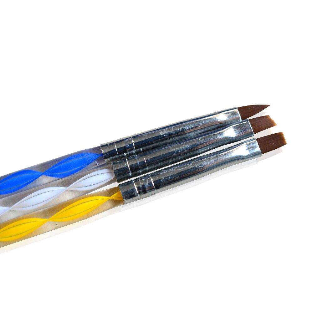 3 unids/set arte clavo cepillos y que salpican la herramienta de acrílico suave cabeza, manicura artística consejos de pintura pluma de dibujo herramientas TR32