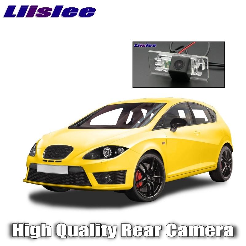 Liislee, cámara trasera para coche para SEAT Leon 2009 ~ 2012, cámara de visión trasera de alta calidad, resistente al agua, CCD, visión nocturna, para coche