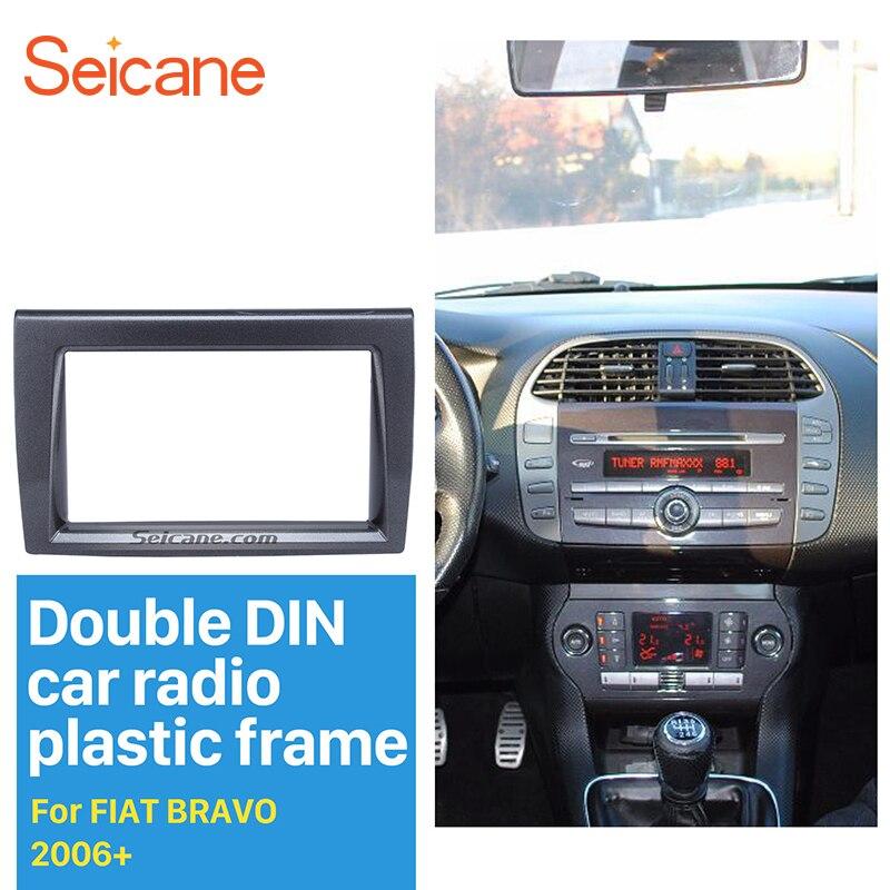 Seicane Refinado Fascia Rádio Do Carro Duplo Din DVD Player Quadro para 2006 + FIAT BRAVO Cobertura De Áudio No Painel de Montagem kit Placa Do Painel