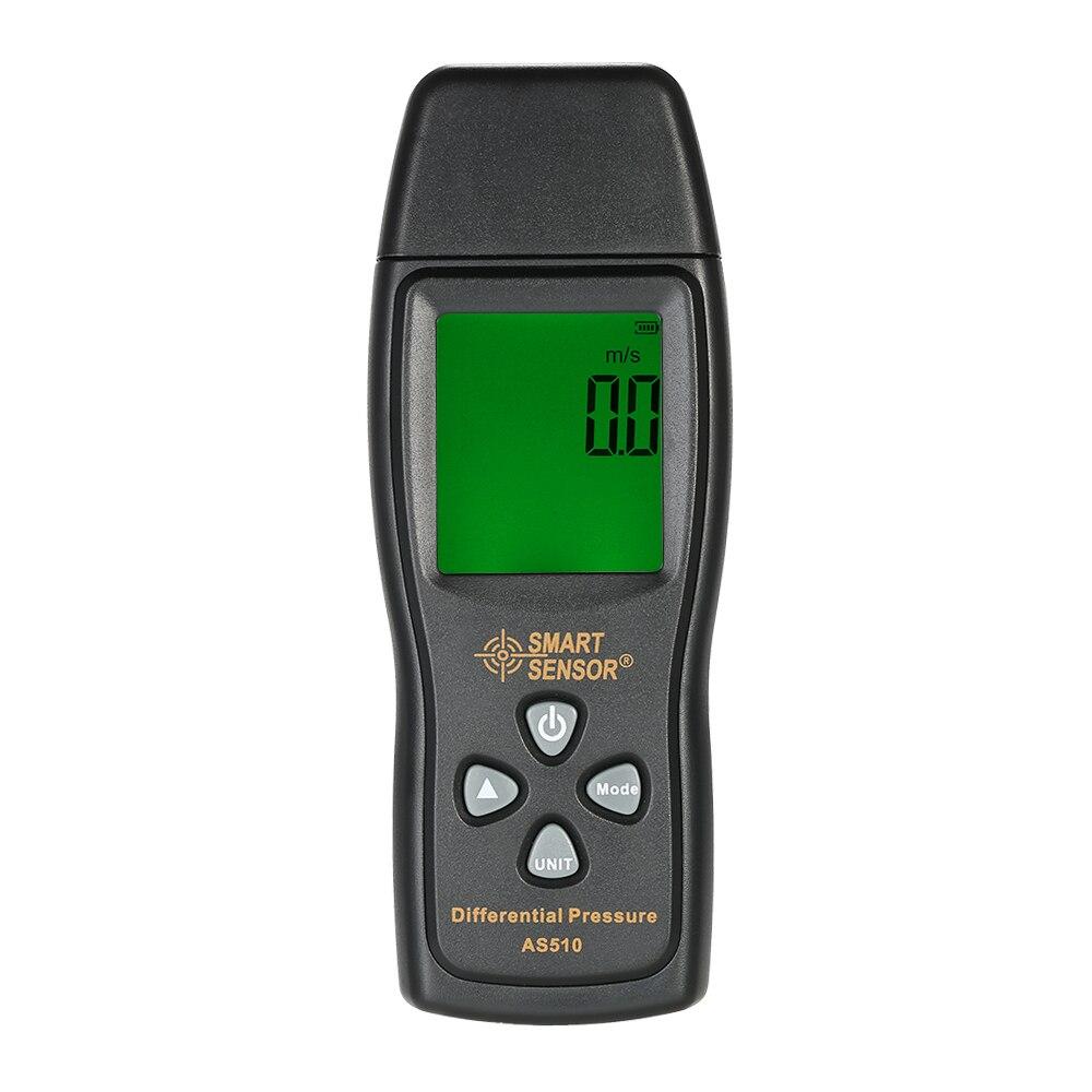 AS510 LCD Воздушный манометр Мини манометр цифровой манометр диапазон измерения 0 ~ 100hPa