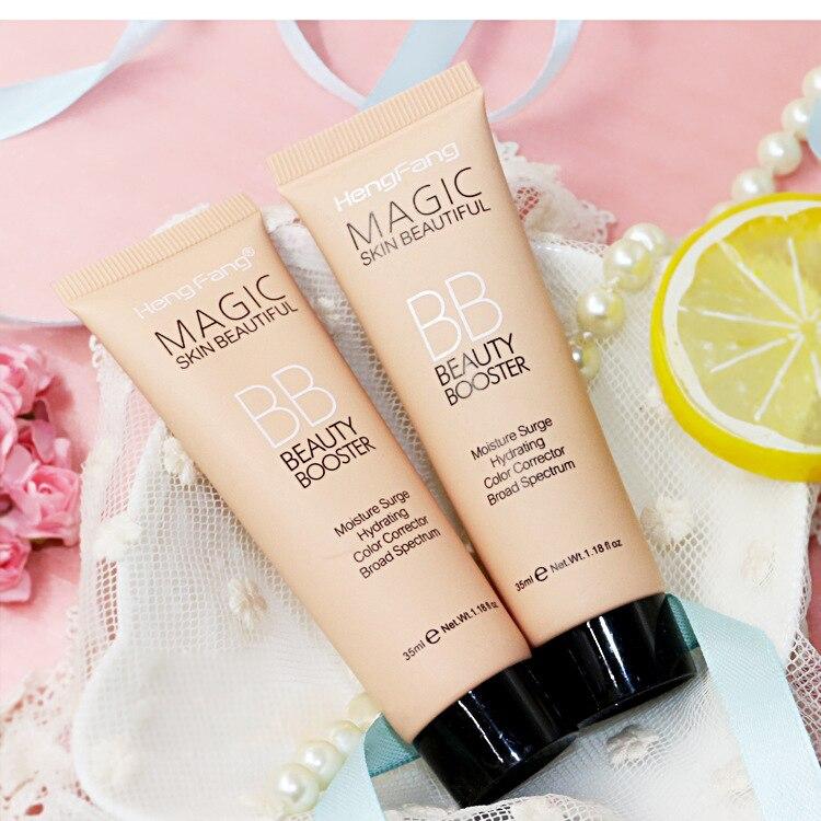 Kit de maquillaje de Base de brillo bloque solar de larga duración resistente al agua cara blanqueadora Base Hengfang BB crema