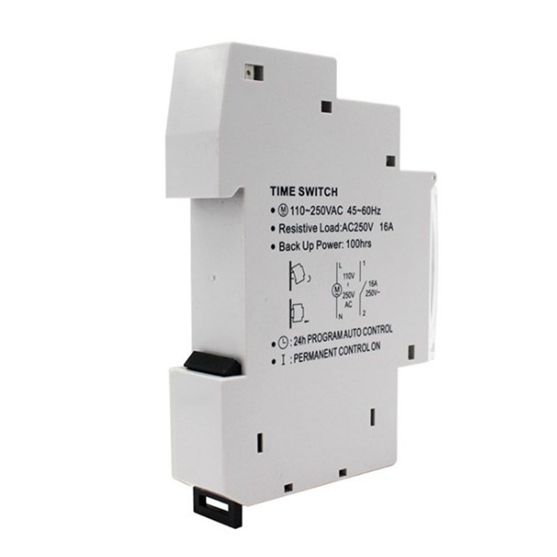New SUL180a 15 Minutes Mechanical Timer 24 Hours Programmable Din Rail Timer Time Switch Relay Measurement Analysis Instruments