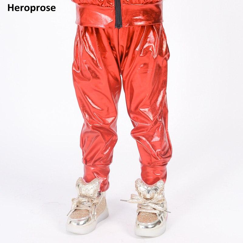 ¡NOVEDAD DE 2017! pantalones de Hip hop de moda para niños y adultos, pantalones de chándal rojos para danza, traje ds, pantalones holgados informales para mujer, pantalones bombachos plisados