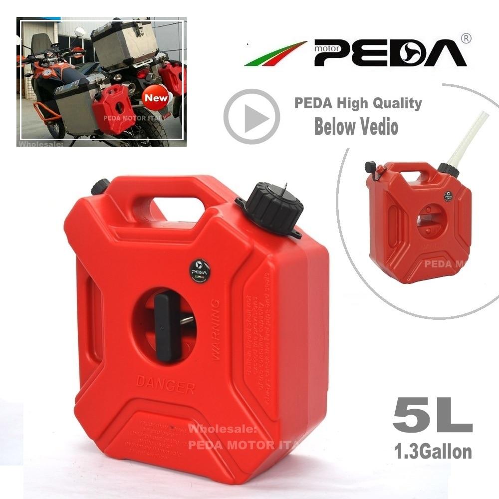 Vtt Gokart Utv bidon de gaz   Réservoir de carburant Portable, plastique 1.3 gallons boîtes diesel, vtt Gokart Utv moto jerrycan bec monté ravitaillement