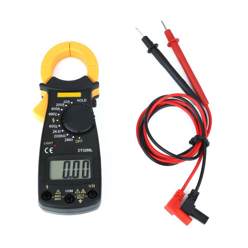 Multímetro DT3266L Digital LCD pinza medidor multímetro voltímetro amperímetro ACDC Detector de voltaje