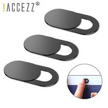 ¡! ACCEZZ-cubierta de WebCam, imán deslizante de plástico para iPhone, Web, portátil, PC, iPad, tableta, cámara, teléfono móvil, pegatina de privacidad