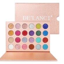 DELANCI 24 Farben Glitter Lidschatten Pallete Marke Schönheit Kosmetik Diamant Gedrückt Glitter Lidschatten Pigment bilden Palette