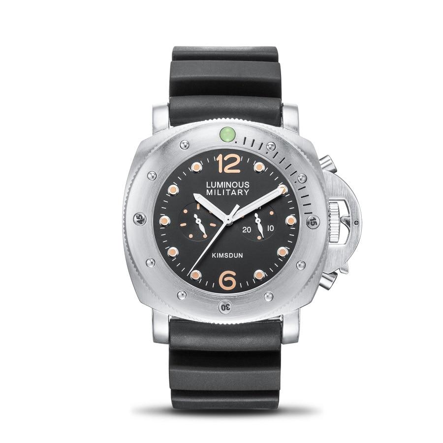 Relojes para hombre KIMSDUN de alta calidad, relojes militares de lujo a prueba de agua, relojes de pulsera mecánicos automáticos para hombre