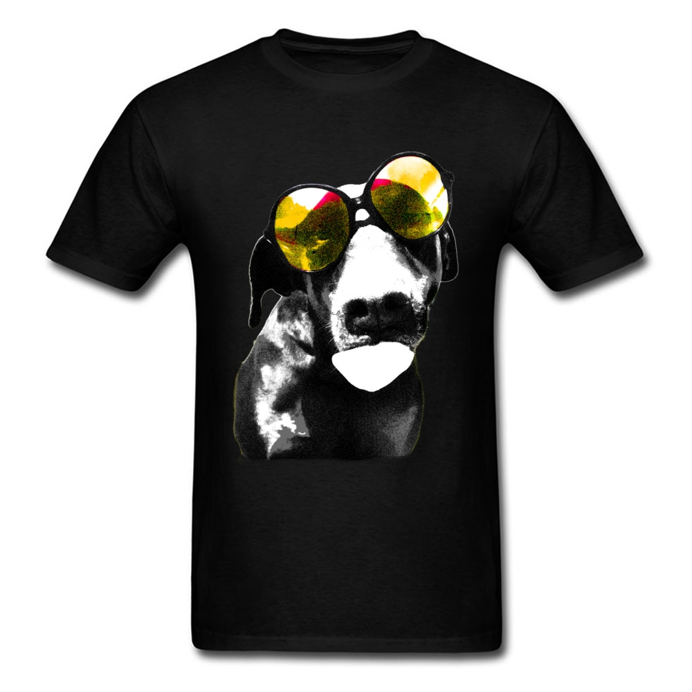Special Summer Tshirt Men Funny T Shirt Wear Sunglasses...Anytime T-shirts Trendy Dog Print Clothes
