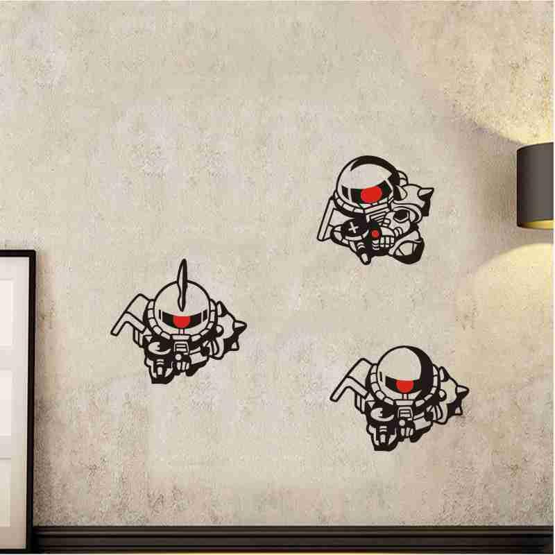 Pegatina de vinilo ZAKU II GUNDAM para pared, pegatina decorativa para el hogar, pegatina de coche de Anime GUNDAM