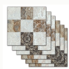 20*20cm * 6 uds Europa Retro patrón de mármol piso etiqueta de la pared de cocina baño azulejos cartel a prueba de agua tatuajes de pared de vinilo
