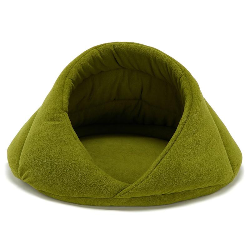 Cama de cama de mascota lavable para Cueva de gatos y perros, tienda de campaña suave para mascotas y alfombrilla interior