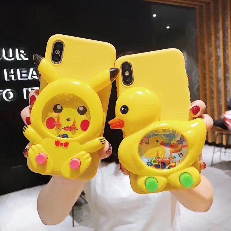 Funda de pato juego 3D silicona suave líquida funda para Huawei P8 P9 P10 P20 P30 Lite Pro Mate 9 10 20 X Bob Esponja Reduce el estrés juguete