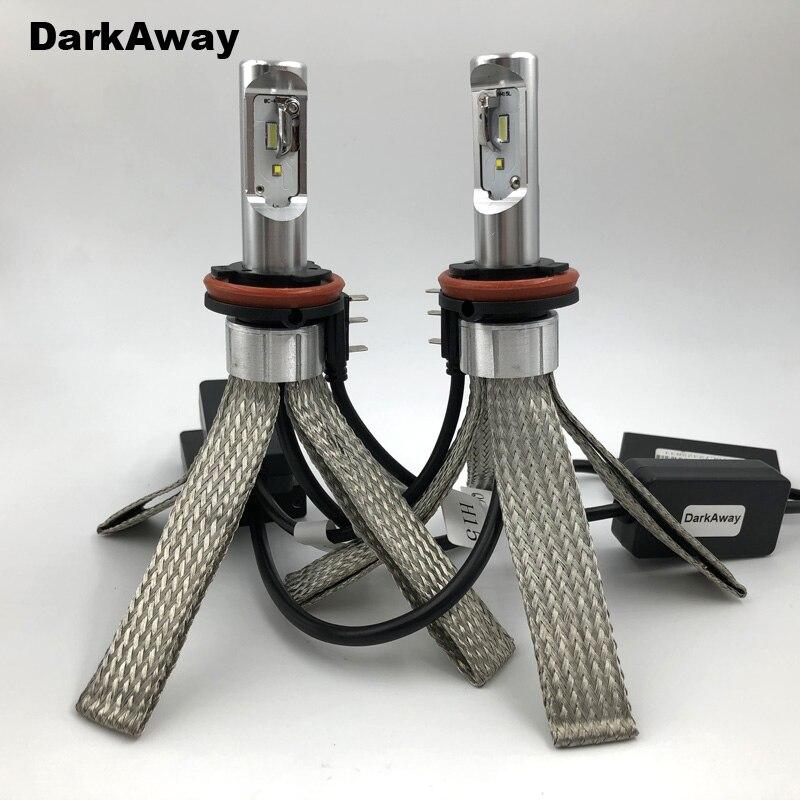 Mejor bombilla LED DarkAway H15, 40W 5600LM, faro para coche, luz de Luz De Carretera Canbus sin Error para Golf MLK