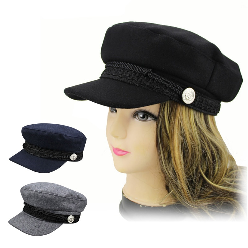 Women Autumn Beret Soft Warm Vintage Chic Classic Female Hat for Winter H9