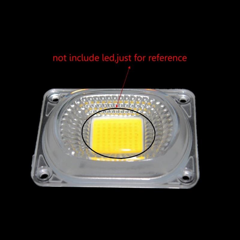 2019 nuevo Reflector de lente LED para luces LED COB lente de la PC + Reflector + anillo de silicona cubierta de sombra de instrumentos de análisis