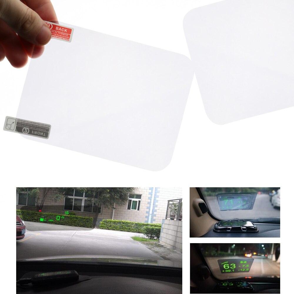 """Carro-estilo do carro auto hud cabeça up display tela do projetor cabeça up display hud película de proteção tela reflexiva 5.9 """"* 4.9"""""""